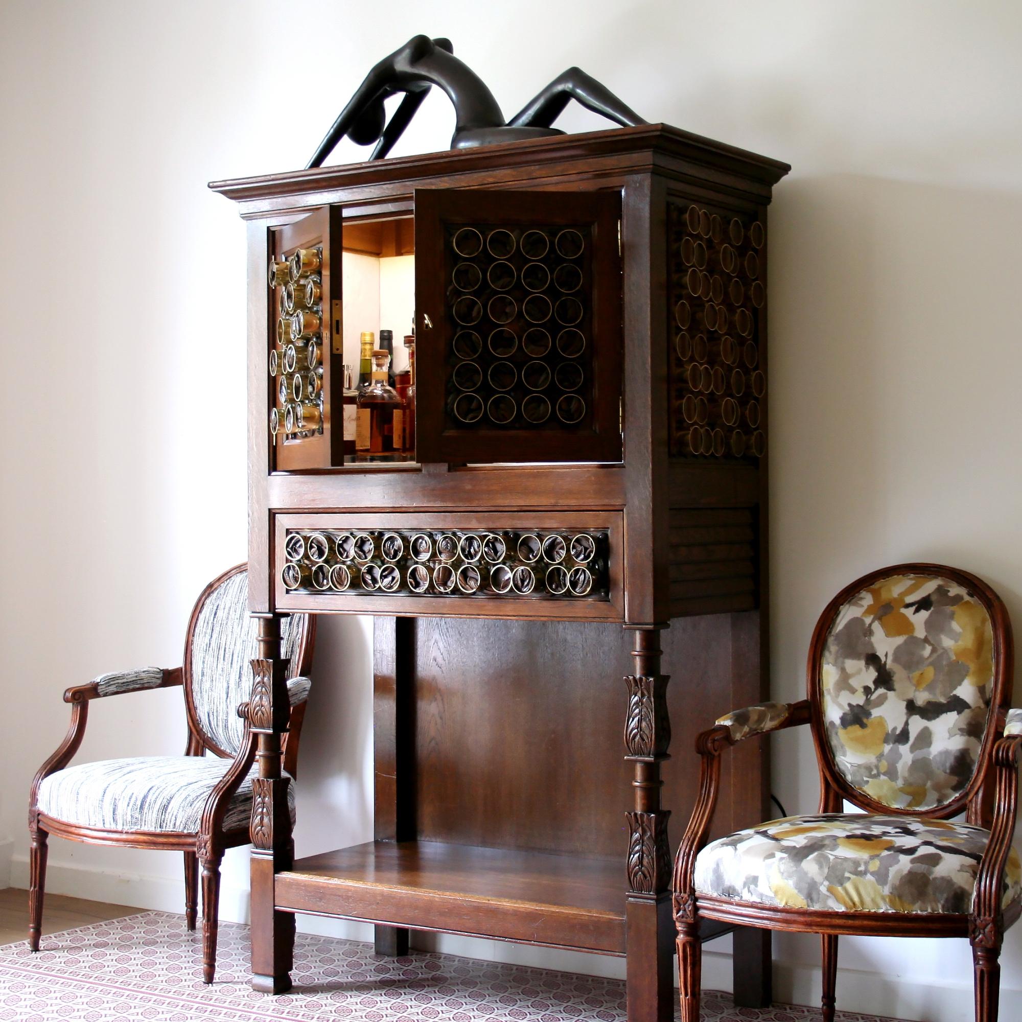 Mobilier ancien réinventé en mobilier moderne