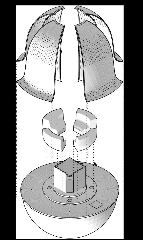 Axonométrie, architecture, concours mini maousse 8, cité de l'architecture, sensibilisation montée des eaux, architecture écologique, éco-conception, architecture sensibilisante, éco-construction