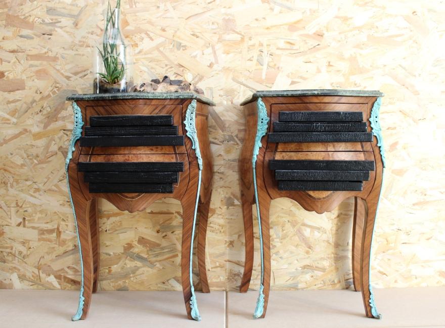 Modernisation de mobilier ancien, modernisation de meubles anciens, réutilisation de meubles anciens, transformation de mobilier ancien, transformé un meuble Louis XV