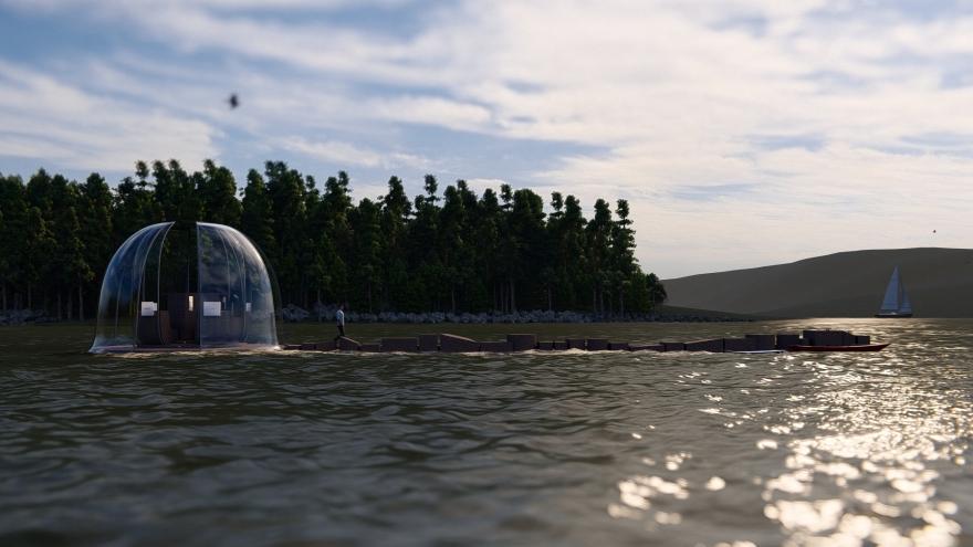 architecture, concours mini maousse 8, cité de l'architecture, sensibilisation montée des eaux, architecture écologique, éco-conception, architecture sensibilisante, éco-construction