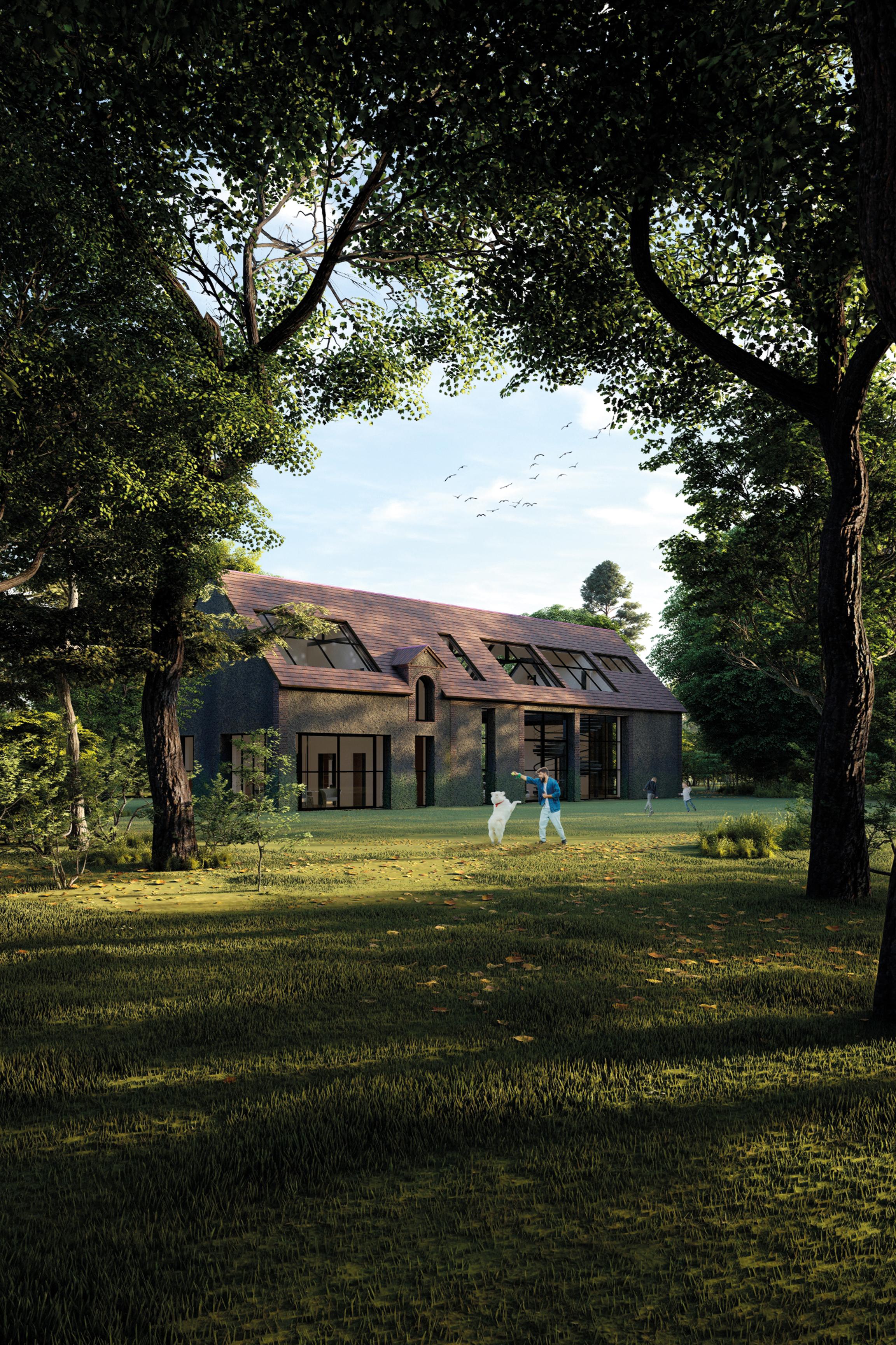 Requalification d'une grange, rénovation de bâtiment agricole, transformation d'une grange en habitat, faire sa maison dans une grange, grange rénovée, contraste ancien-moderne